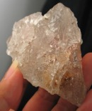 Beautiful Large Etched Solution Morganite w/Golden Healer - Rare