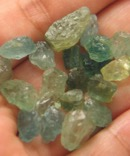 Encouraging Aquamarine with Heliodor Rough - Medicine Pouch