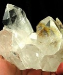 Regal Chlorite Included Bright Clear Quartz Cluster