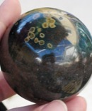 Deep Green Ocean Jasper Sphere