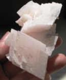 Strong Heart Mangano Calcite Cluster