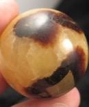 Golden Septarian Calcite Sphere
