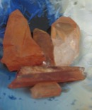 Lot of 5 Tangerine Quartz Crystals