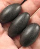 Trio of Black Shiva Lingams