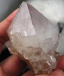 Pale Amethyst Spirit Quartz w/Rks & Golden Healer