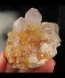 Golden Amethyst Spirit Quartz Cluster
