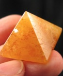 Golden Azeztulite Pyramid