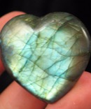 Blue Green Labradorite Heart