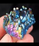 Vibrant Flame Aura Quartz Cluster