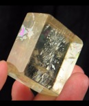 Polished Optical Rainbow Gold Calcite Rhomb