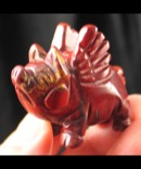 Red Jasper Flying Pig