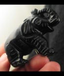 Carved Black Onyx Elephant