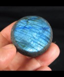 Brilliant Blue Labradorite Button