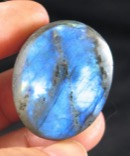 Rich Blue Labradorite Button