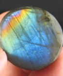 Brilliant Rainbow Labradorite Button