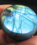 Bright Blue Labradorite Button