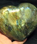 Large Golden Labradorite Heart
