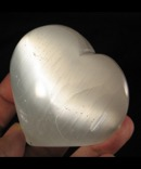 Palm Sized Selenite Heart