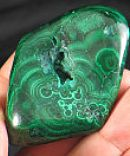 Soothing Polished Malachite Freeform