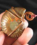 Copper Wrapped Ammonite