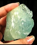 Breathtaking Etched Blue-Green Solution Aquamarine