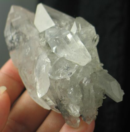 Double Termianted Quartz Cluster w/Bournonite China :: Image is of piece for sale.