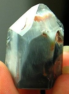 Dreamy Blue Actinolite Included Quartz Point