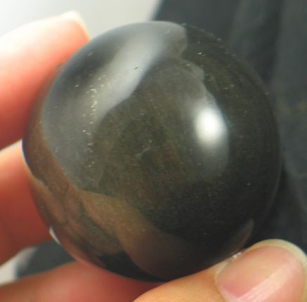 Gold Sheen Obsidian Sphere :: Image is of piece for sale.