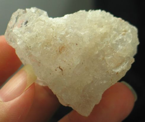 Slightly Pink White Pollucite - Pakistan :: Image is of piece for sale.