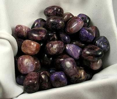 Charoite Tumbled Stones :: Image is of piece for sale.