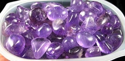 Gemmy Amethyst Tumbles :: Image is of piece for sale.