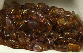 Golden Ametrine Tumbles :: Image is of piece for sale.