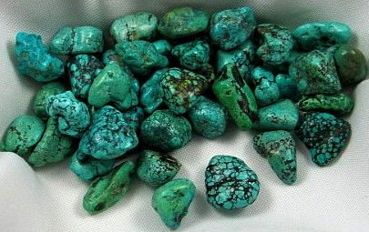 Turquoise Tumbles :: Image is of piece for sale.