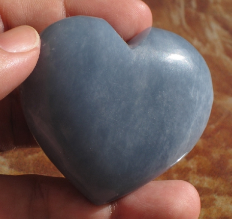 Serene Angelite Heart :: Image is of piece for sale.