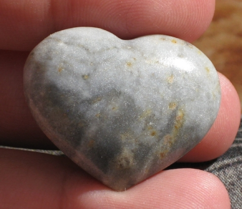 Petite Jasper Heart :: Image is of piece for sale.