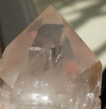 Rainbow Phantom Quartz Point - Zambian :: Image is of piece for sale.