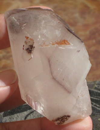 Hematite Phantom DT Quartz Crystal Messina :: Image is of piece for sale.