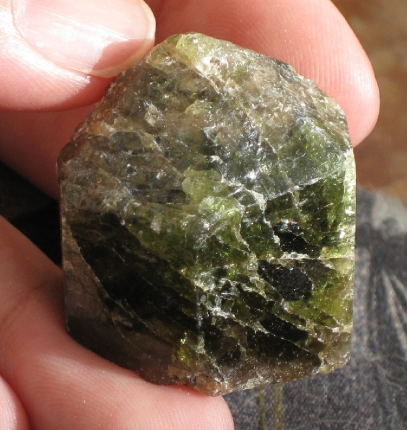 Terminated Green Apatite Crystal :: Image is of piece for sale.