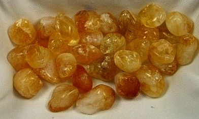 Heated Citrine Tumbled Stones  :: Image is of piece for sale.