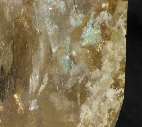 Rutilated Chlorite Included Citrine Point :: Image is of piece for sale.