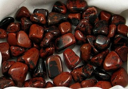 Mahogany Obsidian Tumbles :: Image is of piece for sale.
