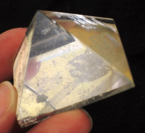 Bright Clear Quartz Pyramid :: Image is of piece for sale.