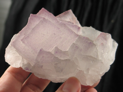 Etched Cubic Lavendar Naica Fluorite :: Image is of piece for sale.