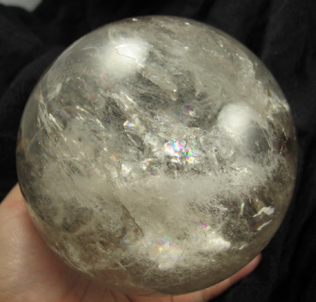 Magnificent Large Rainbow Quartz Sphere :: Image is of piece for sale.