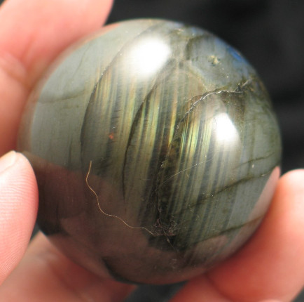 Rolling Fire Labradorite Sphere :: Image is of piece for sale.