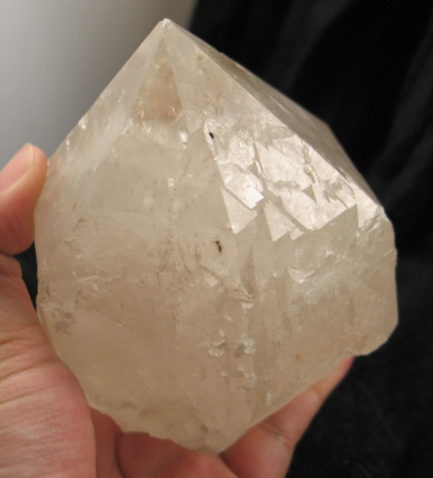 Trigonic Clear Cathedral Mica Included Quartz Crystal :: Image is of piece for sale.