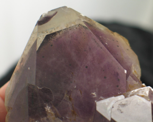 Black & Red Phantom Amethyst w Epidote Formation
