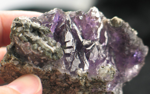 Karur Amethyst Elestial Formation :: Image is of piece for sale.