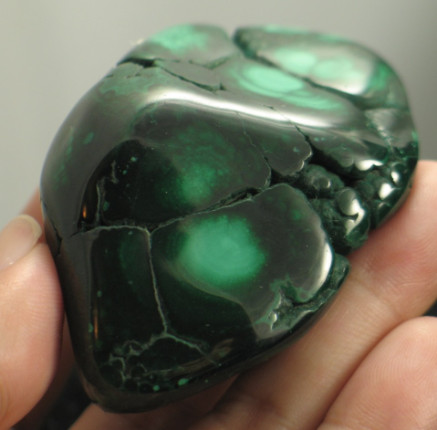 Gorgeous Polished Malachite Freeform :: Image is of piece for sale.