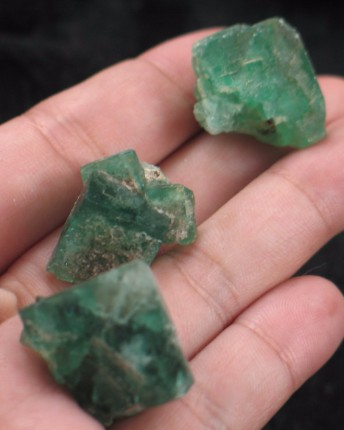 Emerald UK Fluorite Trio :: Image is of piece for sale.